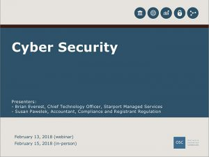 Cyber Security Webinar Ontario Securities Commission